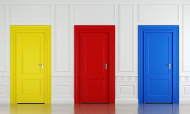 цветные железные двери