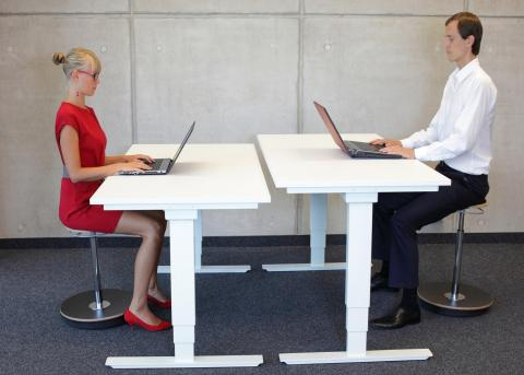 The future of the office desk: sitting, standing or the kitchen table?